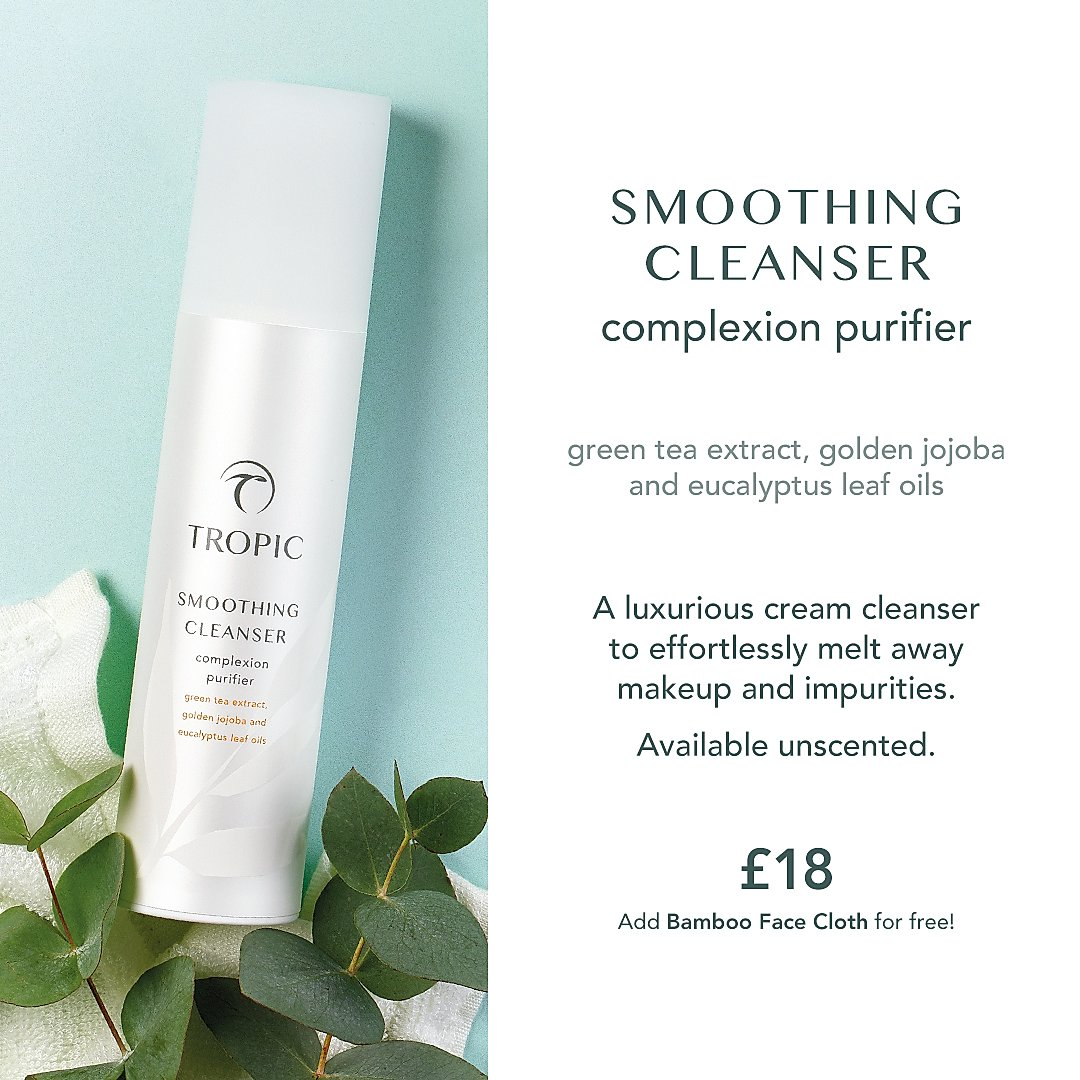 smoothing cleanser - jan smith tropic skincare leeds